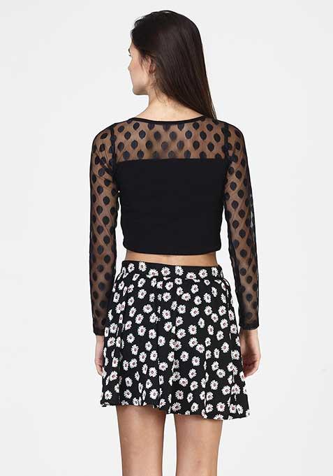 Daisy Struck Skater Skirt