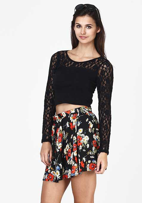 Floral Dreams Skater Skirt