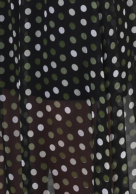 Sheer Dots Maxi Skirt