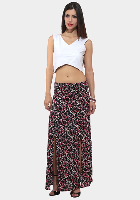 Flower Field Maxi Skirt