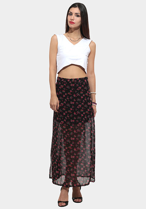Flower Chaser Maxi Skirt
