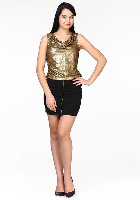 Get Zipped Mini Skirt - Black