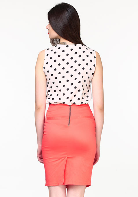 Shape Up Pencil Skirt - Coral