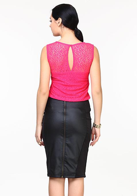 Side Kick Pencil Skirt - Leather