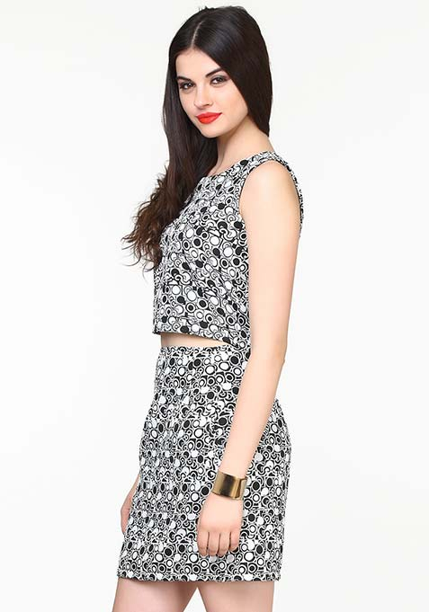 Sixties Swing Skirt - Abstract