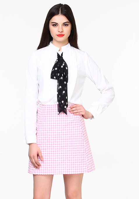 Sixties Swing Skirt - Gingham