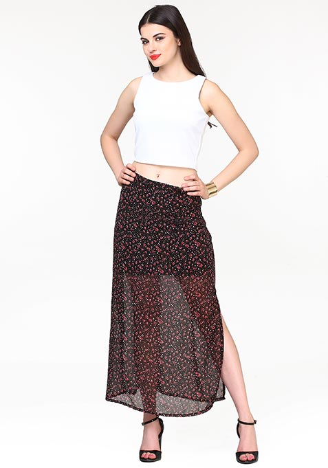 Floral Flow Maxi Skirt