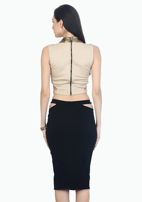 On The Cut Pencil Skirt - Black