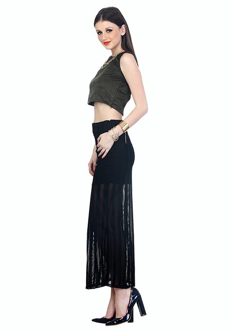 Hot Mesh Maxi Skirt