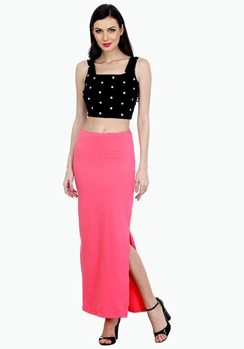 Summer Popping Maxi Skirt - Pink