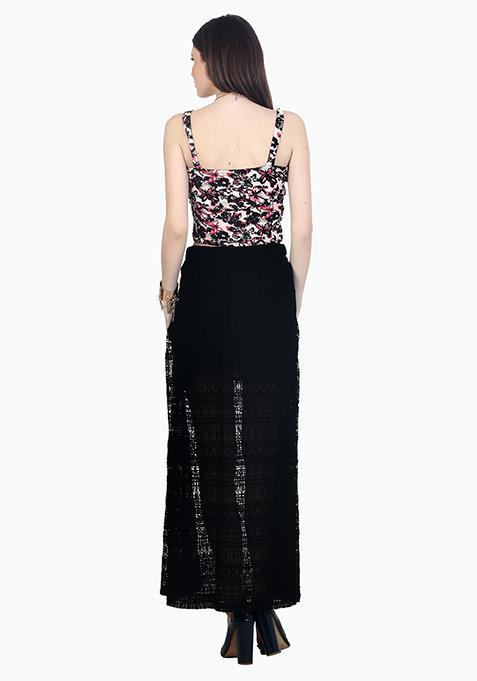 Aztec Lace Maxi Skirt