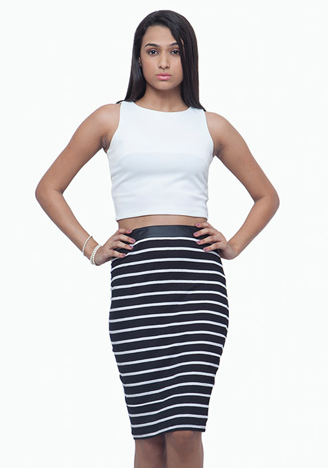 Supernova Pencil Skirt - Stripes