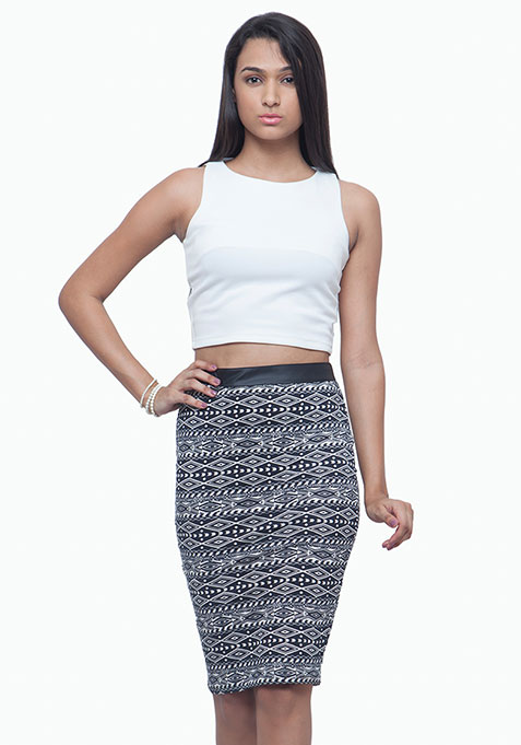 Supernova Pencil Skirt - Tribal