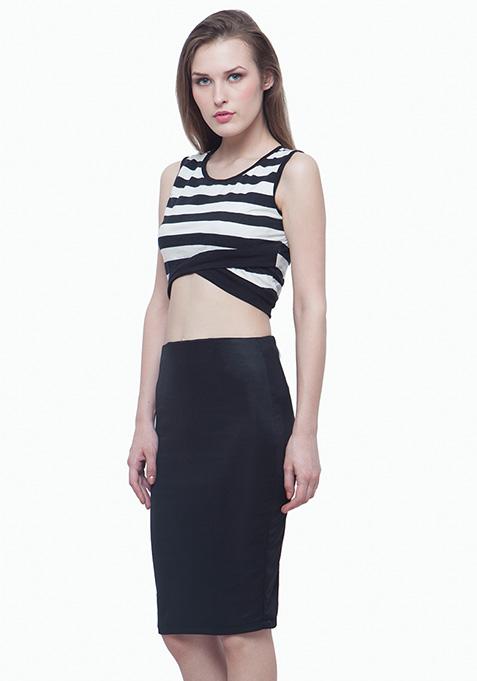 Scuba Pencil Skirt - Black