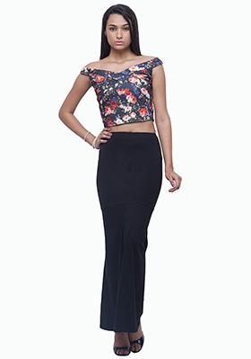 Mermaid Maxi Skirt - Black