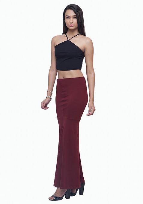 Mermaid Maxi Skirt - Oxblood