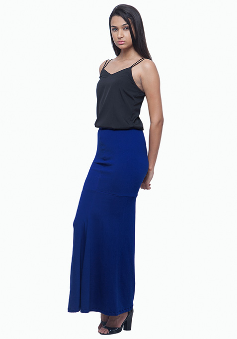 Mermaid Maxi Skirt - Blue