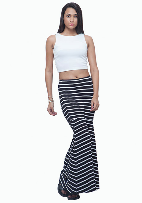 Mermaid Maxi Skirt - Stripes