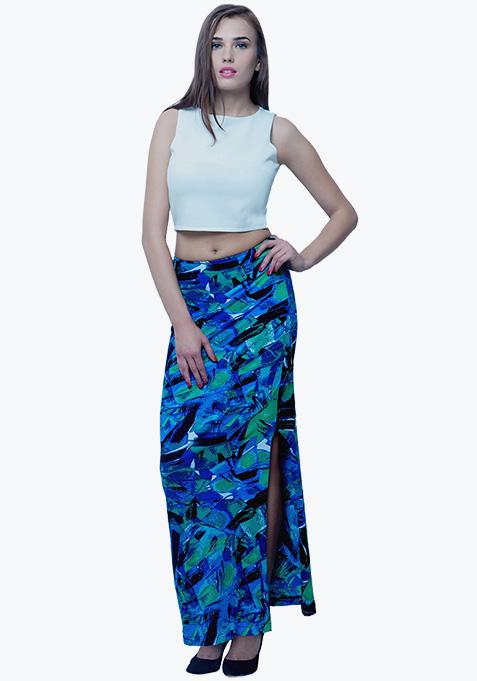 NormCore Maxi Skirt - Aqua