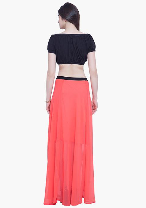 Maxi Much Skirt - Coral