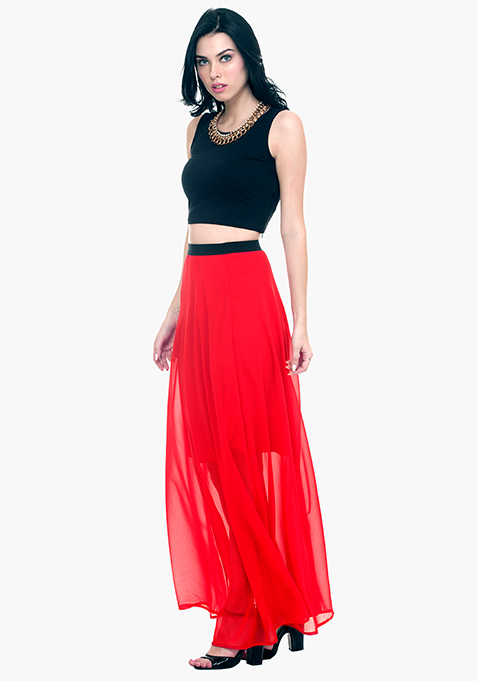 Maxi Much Skirt - Red