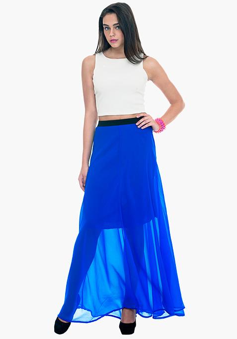 Maxi Much Skirt - Blue