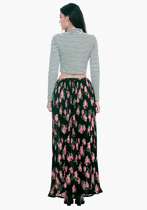 Pleats Please Maxi Skirt - Floral