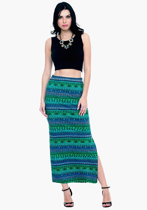 NormCore Maxi Skirt - Tribal