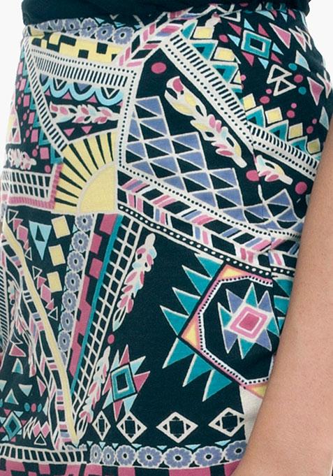 Aztec Tube Mini Skirt