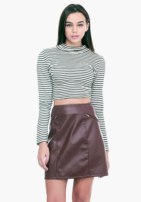 Sixties Sass A-Line Skirt - Oxblood