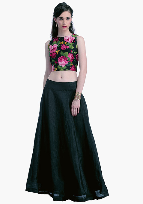 Black Lust Silk Maxi Skirt