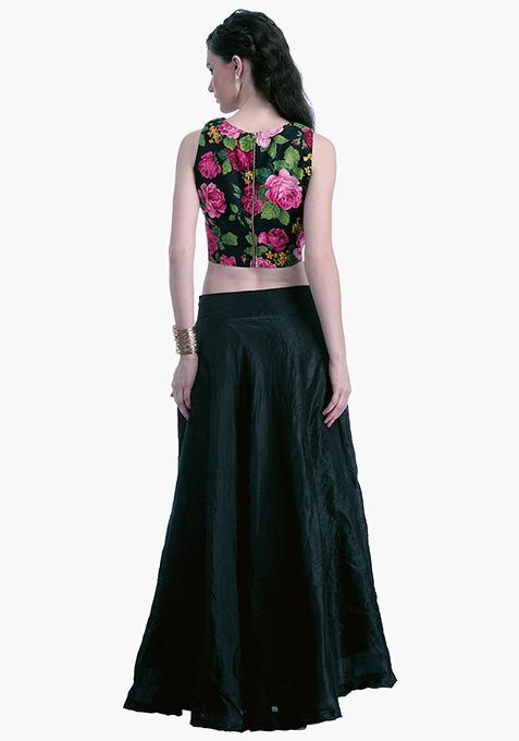 Black Lust Silk Maxi Skirt