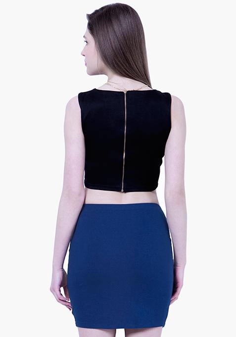 BASICS Blue Tube Mini Skirt