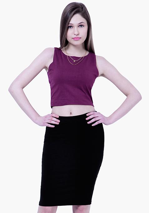 BASICS Jersey Pencil Skirt - Black