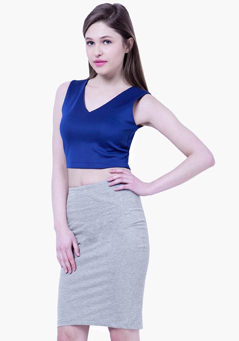 BASICS Jersey Pencil Skirt - Grey