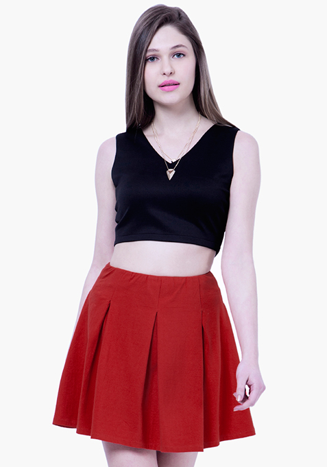 BASICS Skater Skirt - Red