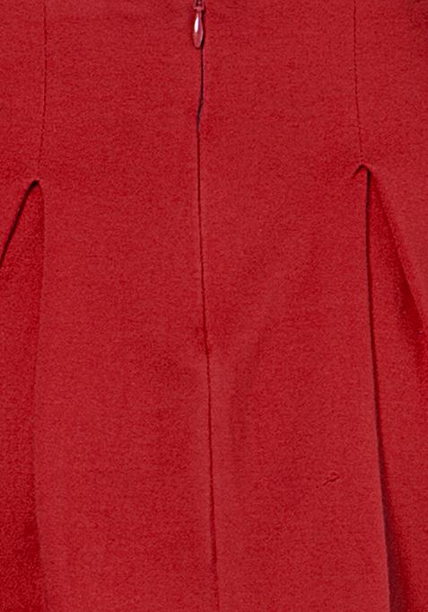 BASICS Skater Skirt - Red