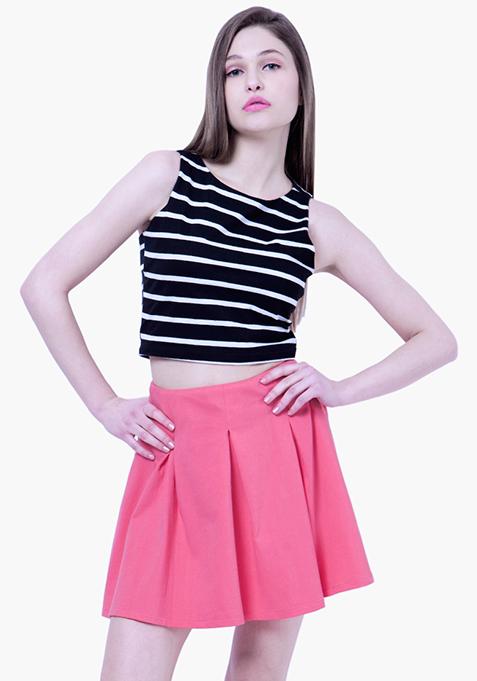 BASICS Skater Skirt - Pink