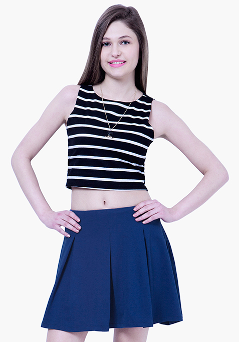 BASICS Skater Skirt - Blue
