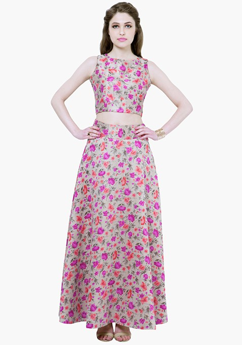 Purple Bliss Silk Maxi Skirt