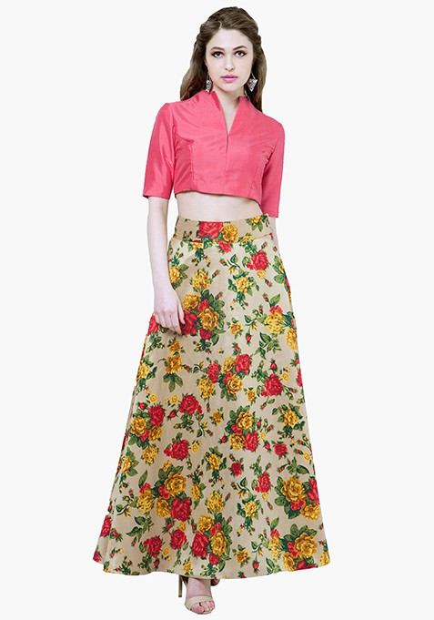 Yellow Bloom Maxi Skirt
