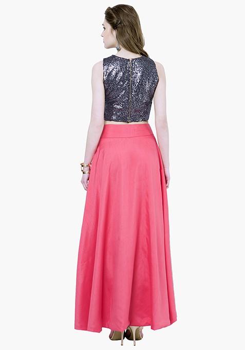 Silk Lush Maxi Skirt - Dusk Pink