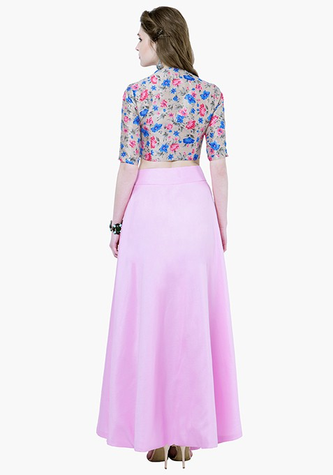 Silk Lush Maxi Skirt - Rose Pink