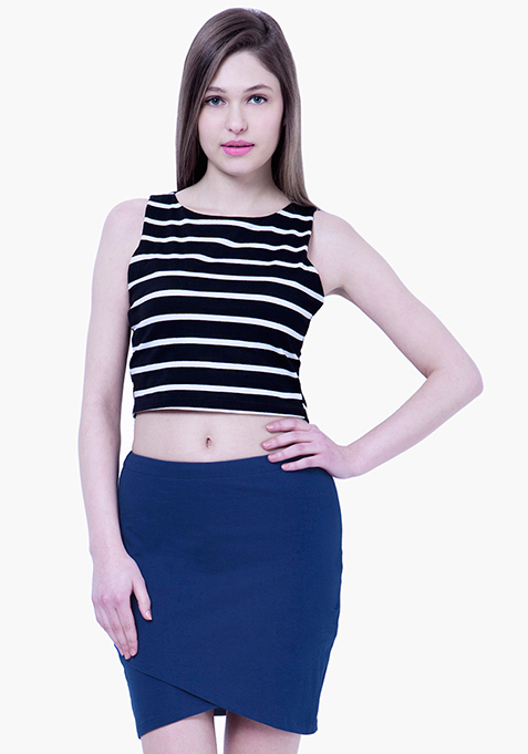 BASICS Wrap Mini Skirt - Blue