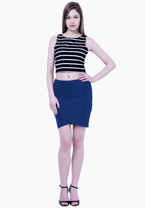 BASICS Wrap Mini Skirt - Blue