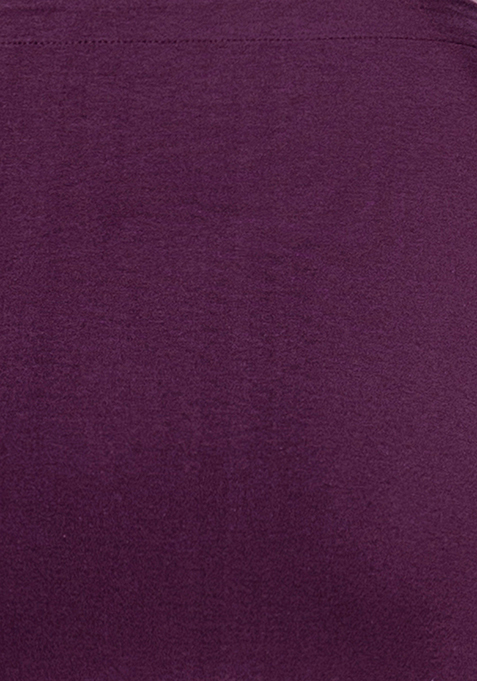 BASICS Wrap Mini Skirt - Purple
