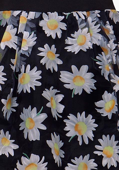 Sheer Sneak Midi Skirt - Daisy