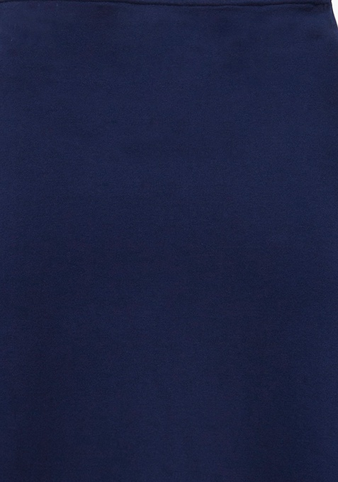 Flared Maxi Skirt - Navy