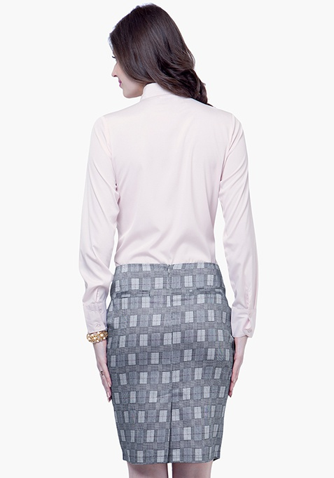 9 to 5 Pencil Skirt - Grey