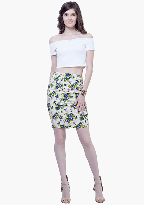 So Summer Pencil Skirt - Floral